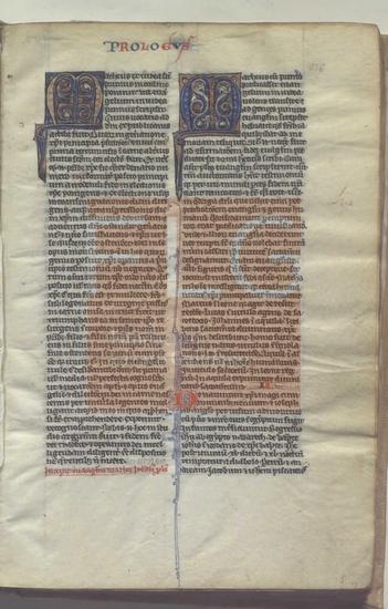 Biblia sacra manuscrita membran�cea, [S. XIII]. Fol. 4r