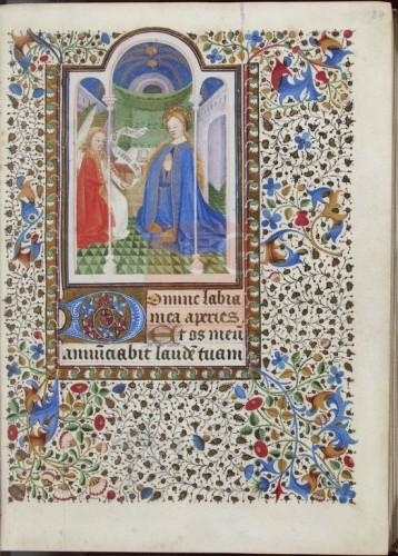 Libro de horas. [Manuscrito], [Siglo XV] Fol. 24r