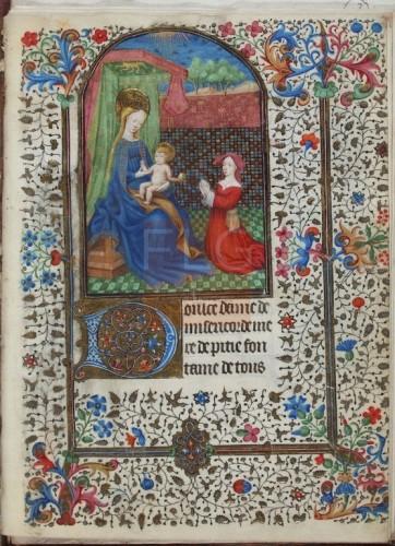 [Liber horarum] [Manuscrito]] : [fragmenta], [S. XV] Fol. 1r