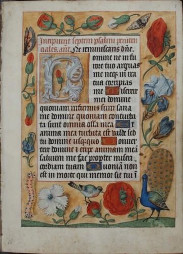 [Liber horarum secundum usum Romanum] [Manuscrito]] : [Fragmento], [post 1510-ante 1530] Fol. 1r