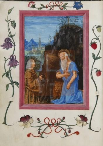 Officium B.M.V. secundum consuetudinem romane curie [Manuscrito], [S. XV, 2� mitad] Fol. 16v