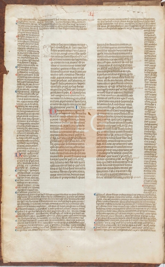 [Decretales D. Gregorii Papae IX cum glossis Bernardus Parmensis], [S. XIV]. Fol. 2v