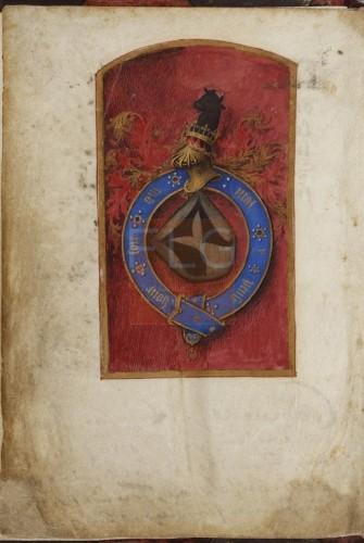 Hora B.M.V. secundum usum Sarum [Manuscrito], [S. XV, post 1480] Fol. 1v