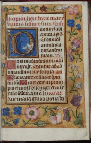 [Libro de horas seg�n el uso de Roma y Oficio de difuntos seg�n el uso de Orleans] [Manuscrito], [post 1480-ante 1500] Fol. 14r