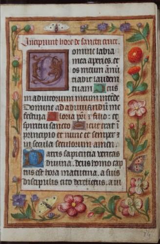[Liber horarum secundum usum Romanum] [Manuscrito], [Ca. 1500] Fol. 14r
