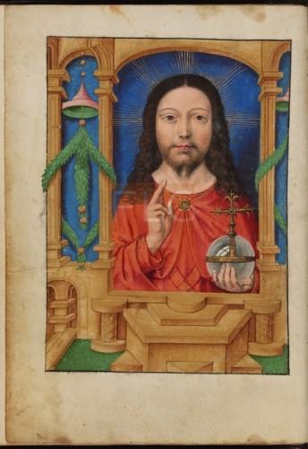 [Liber horarum secundum usum romanum] [Manuscrito], [Ca. 1520] Fol. 1v
