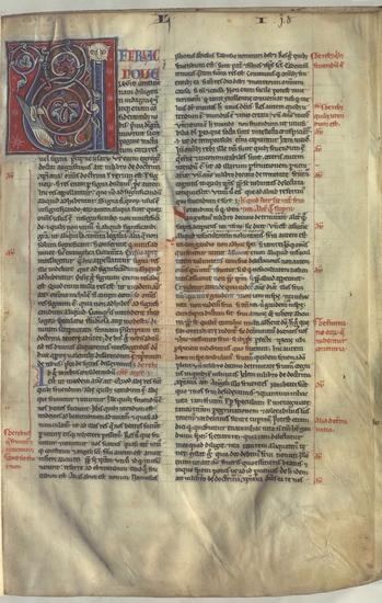 [Sententiarum Quatuor Libri]] / [Petrus Lombardus], [S. XV]. Fol. 5r