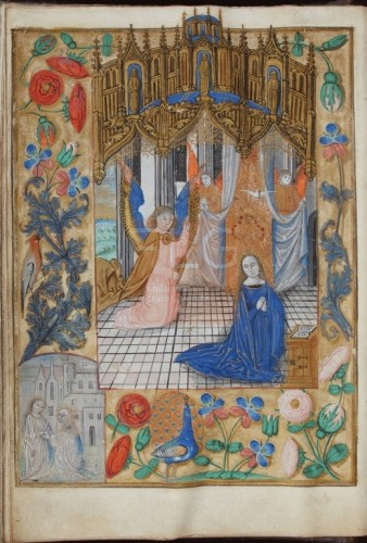 [Horae Beatae Mariae cum calendario] [Manuscrito], [S. XVI, in.] Fol. 13v
